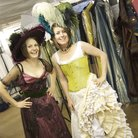Girls in costume for WNO scheme