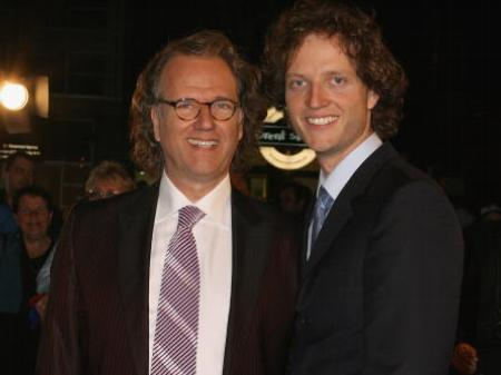 Photo of André Rieu & his  Son  Pierre Rieu