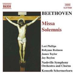 Beethoven  Missa Solemnis Nashville SO Schermerhor