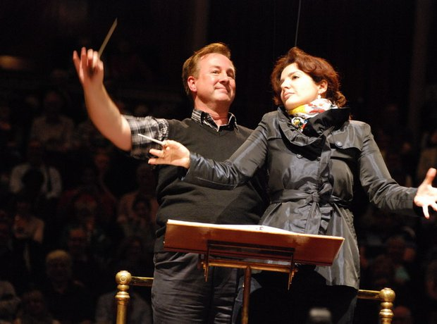 Joint conductors at the Singalong 2012