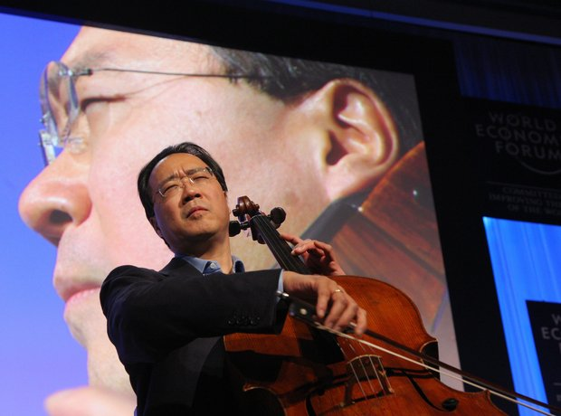 Yo-Yo Ma playing cello