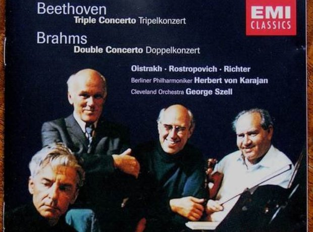 Beethoven/Brahms - Triple/Double Concertos album cover