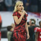 Katherine Jenkins sings National Anthem at wembley