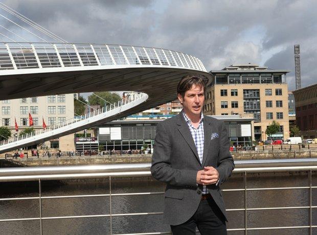 Jamie Crick by Gateshead Millennium Bridge