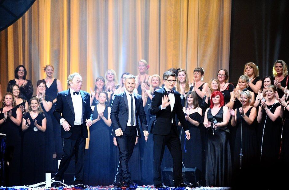 Lord Andrew Lloyd Webber, Gary Barlow, Gareth Malo