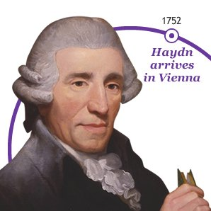 Haydn arrives  in Vienna 1752