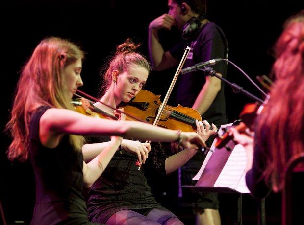 Hampshire String Quartet schools prom rehearsal 1