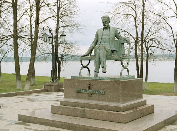 Tchaikovsky Statue in Wotkinsk