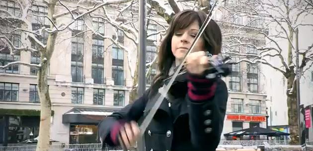 lindsey stirling performs in leicester square