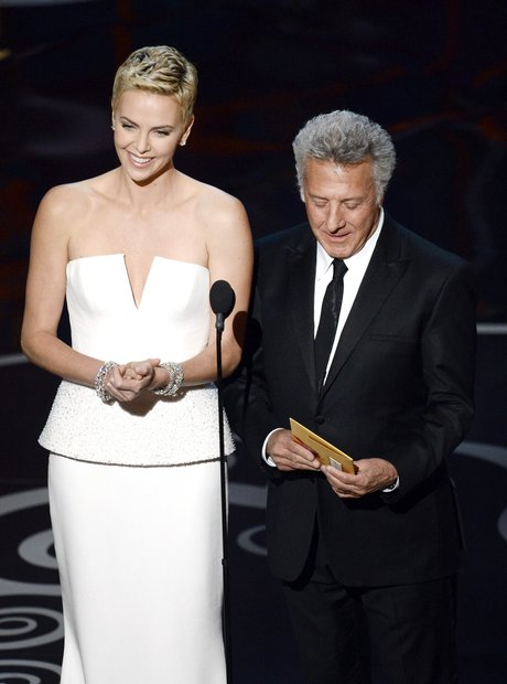 Charlize Theron and Dustin Hoffman at the Oscars 2