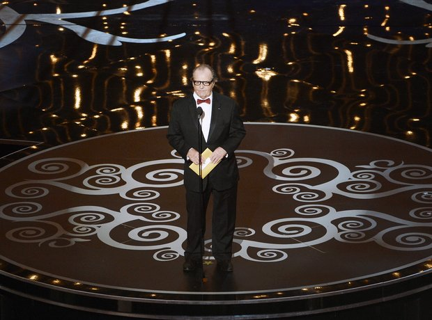 Jack Nicholson on stage at the Oscars 2013