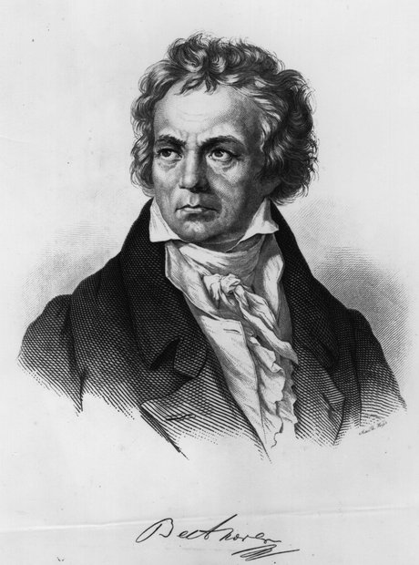 A portrait of Beethoven 1810