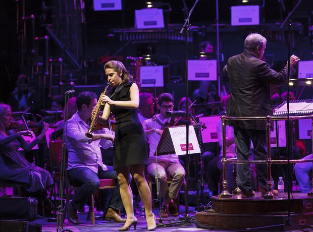 Amy Dickson Classic FM Live 2013 rehearsals