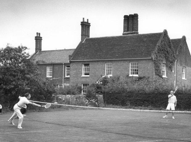 Benjamin Britten Peter Pears Tennis Red House