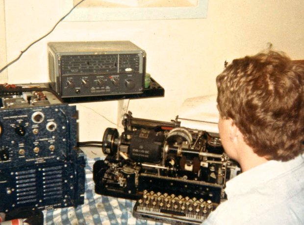 Nick Bailey newsroom Radio Caroline