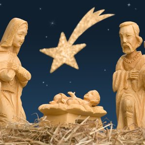 Nativity carving