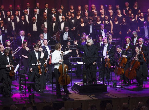 Julian Lloyd Webber and Karl Jenkins at the Classi