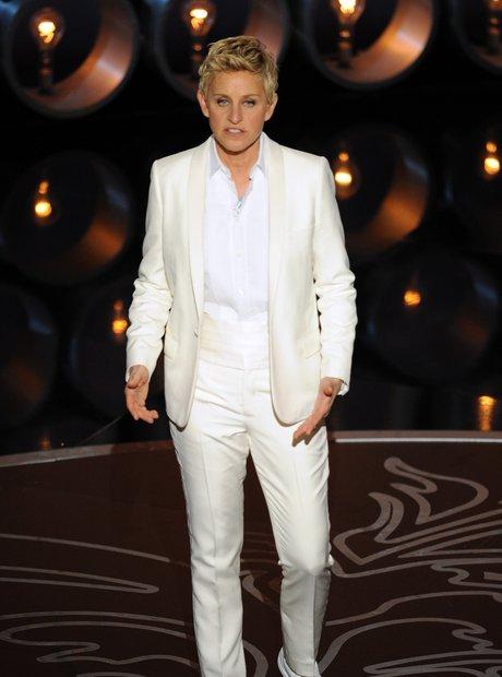 Ellen DeGeneres at the Oscars 2014 on stage