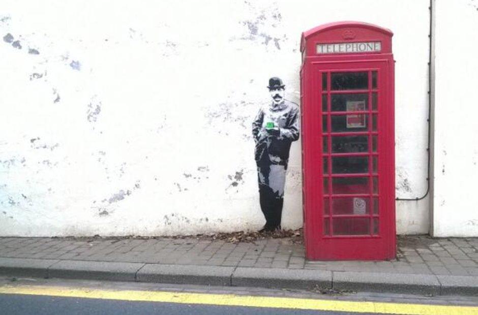 Elgar Banksy in Malvern