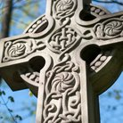 Gaelic cross gravestone