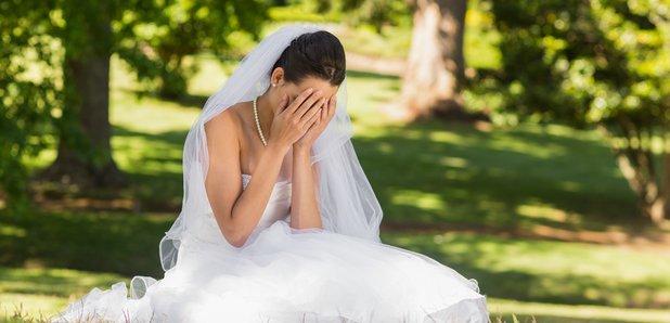 Sad bride