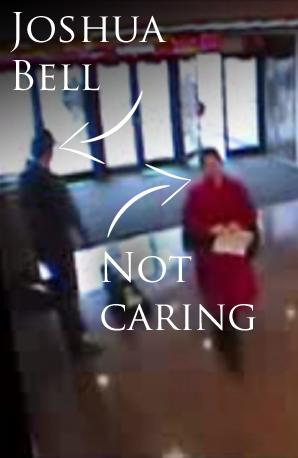 Joshua Bell busking subway