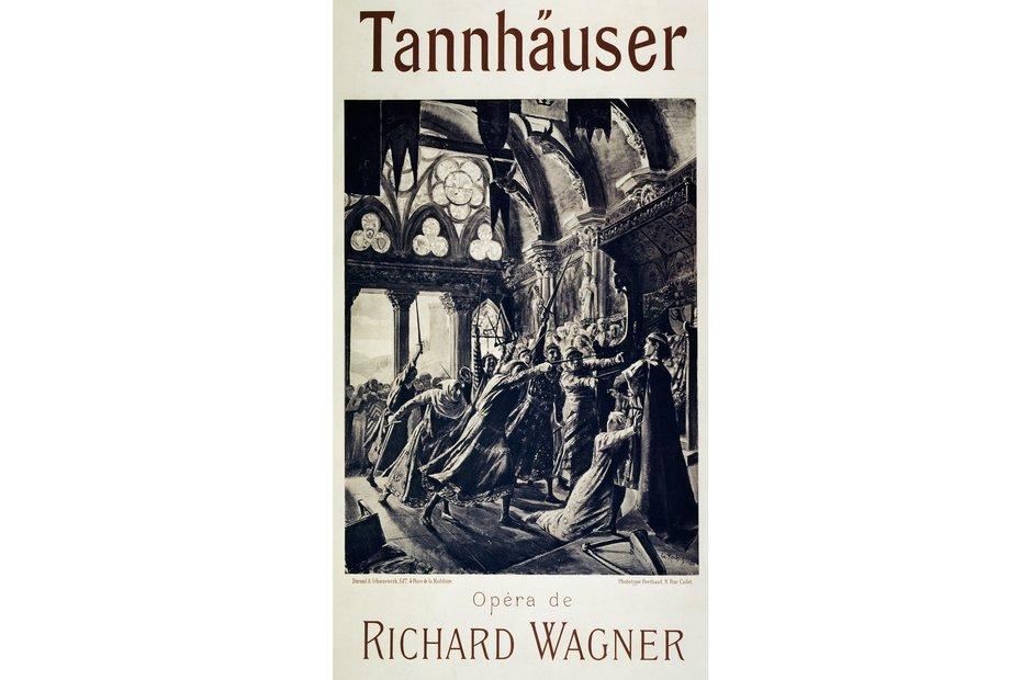 Vintage opera poster Tannhauser