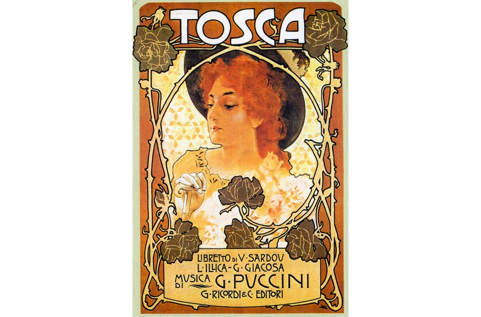 Vintage opera poster Tosca