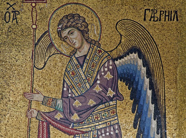 Palermo Mosaic Archangel Gabriel