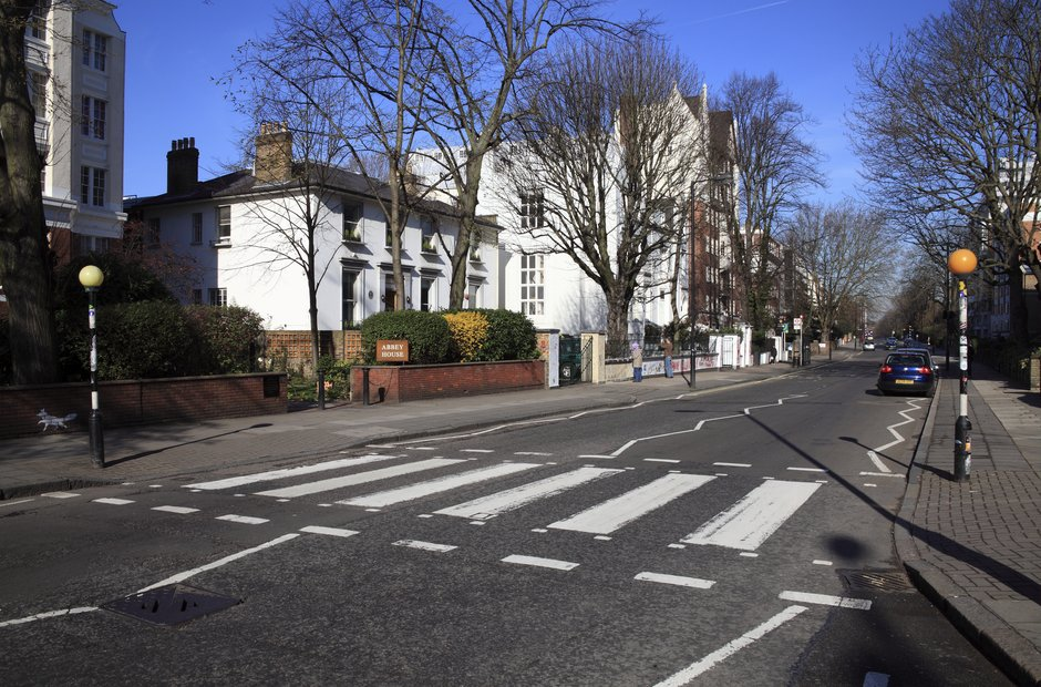 Abbey Road zebra crossing Beatles