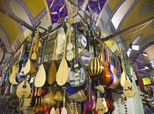 Music stall in Istanbul