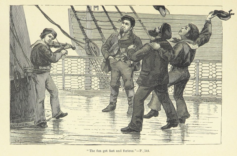British Library archive sailor fiddler