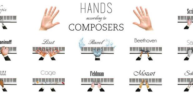 Composer piano hands