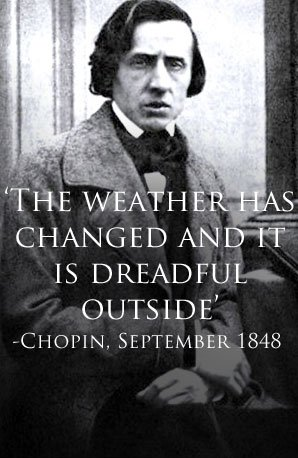 Chopin bad weather quote
