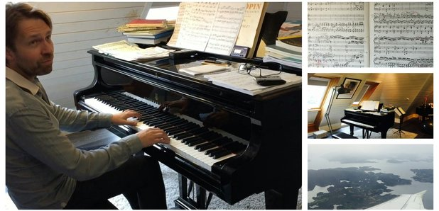 Leif Ove Andsnes at home