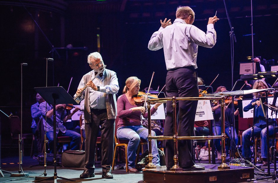 Sir James Galway Classic FM Live 2015 rehearsal