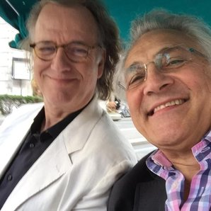 John Suchet and Andre Rieu in Rome