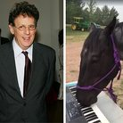 Philip Glass and horse