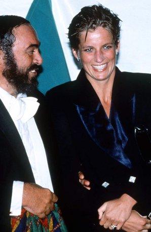 Princess Diana and Pavarotti