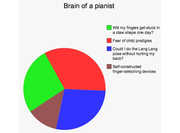 Musicians Brains Each Instrument Broken Down Into Pie Charts