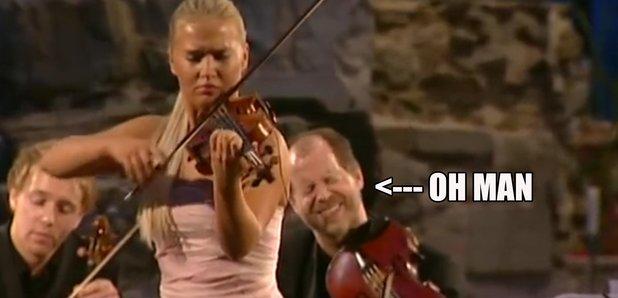 viola player expression