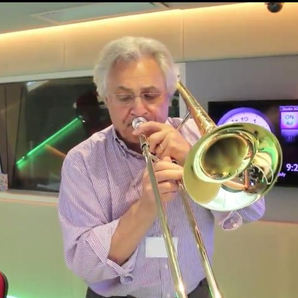 John Suchet plays Cinema Paradiso on trombone