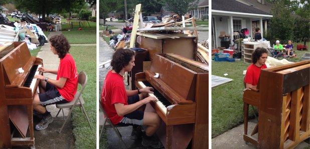 louisiana flood pianist