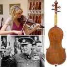 Winston Churchill cigar box violin