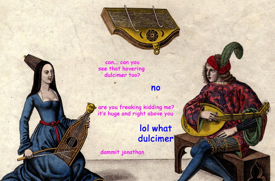 Awkward musician situations in paintings