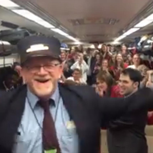 This train conductor also happens to be an actual